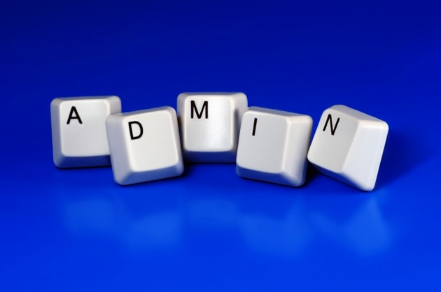The word Admin is spelt out