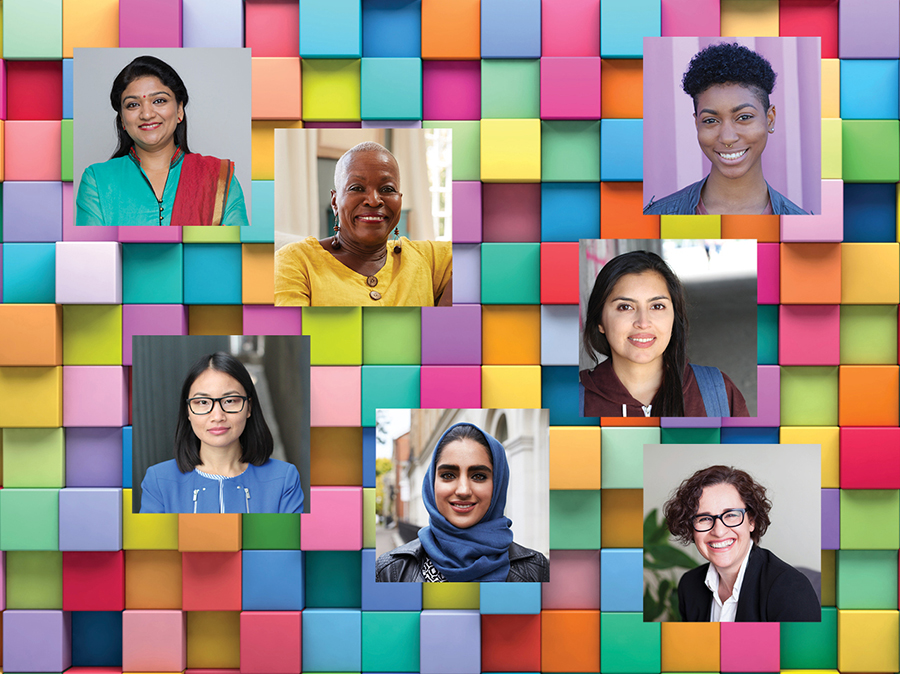 Collage of diverse women representing intersectionality