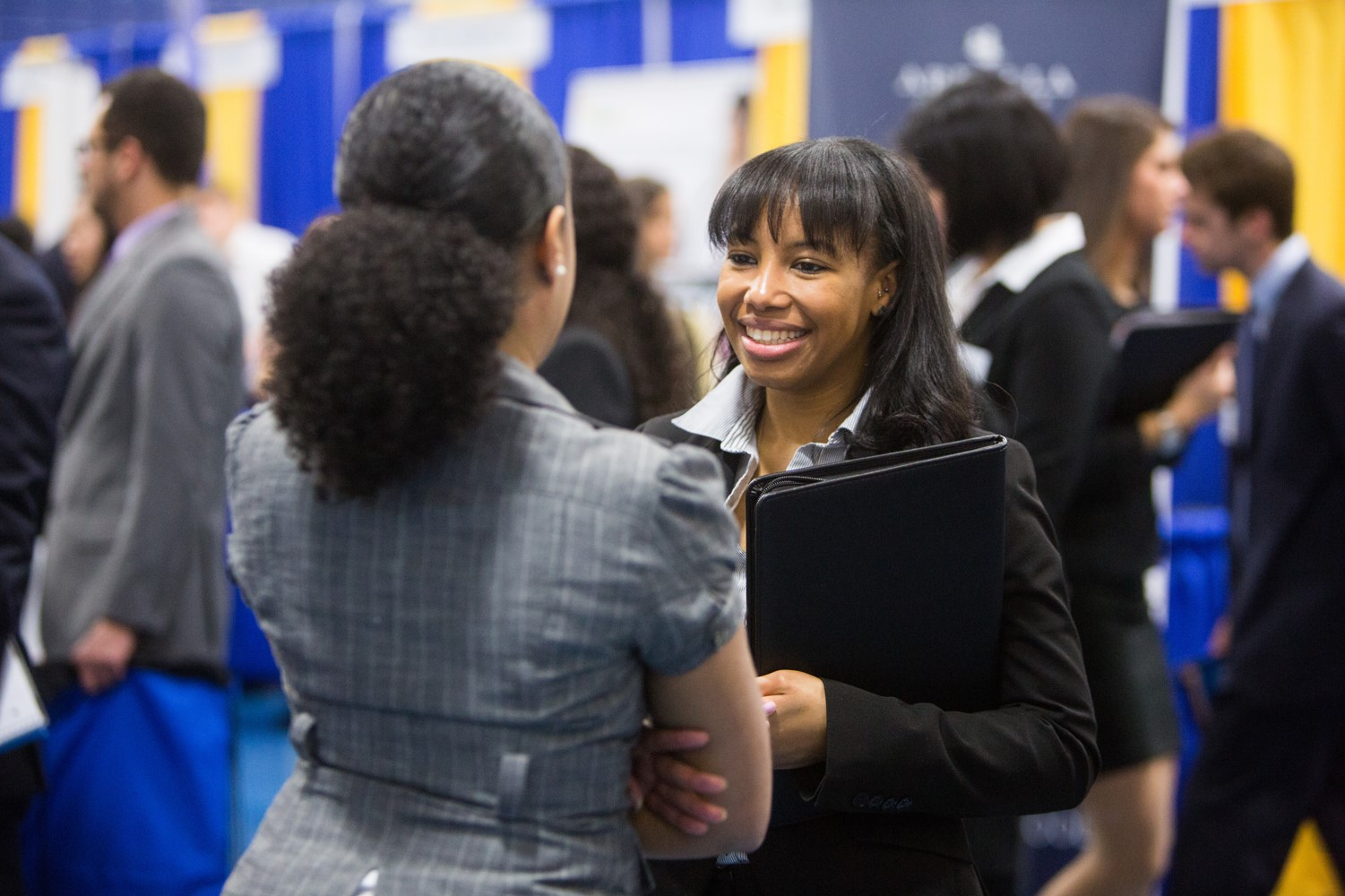 student at the career fair