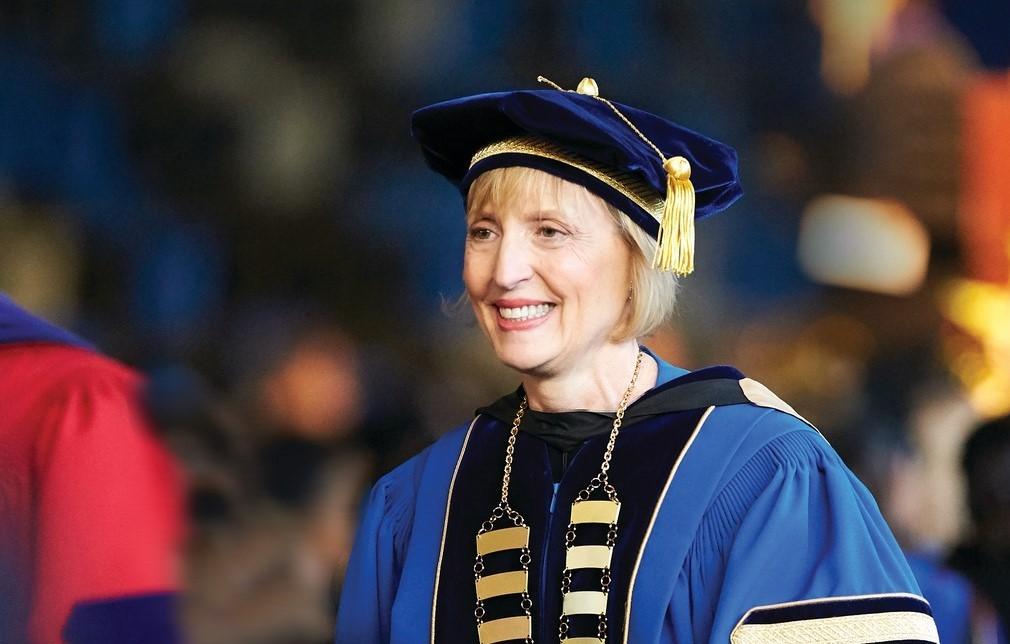 President Davis-Blake in academic regalia