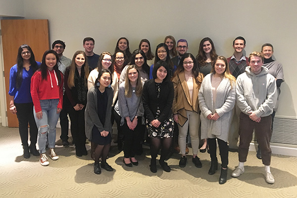 CWB 2018 Fellows pose together at welcome event