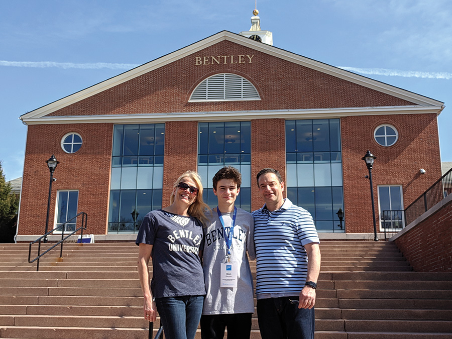Dom and parents at Bentley