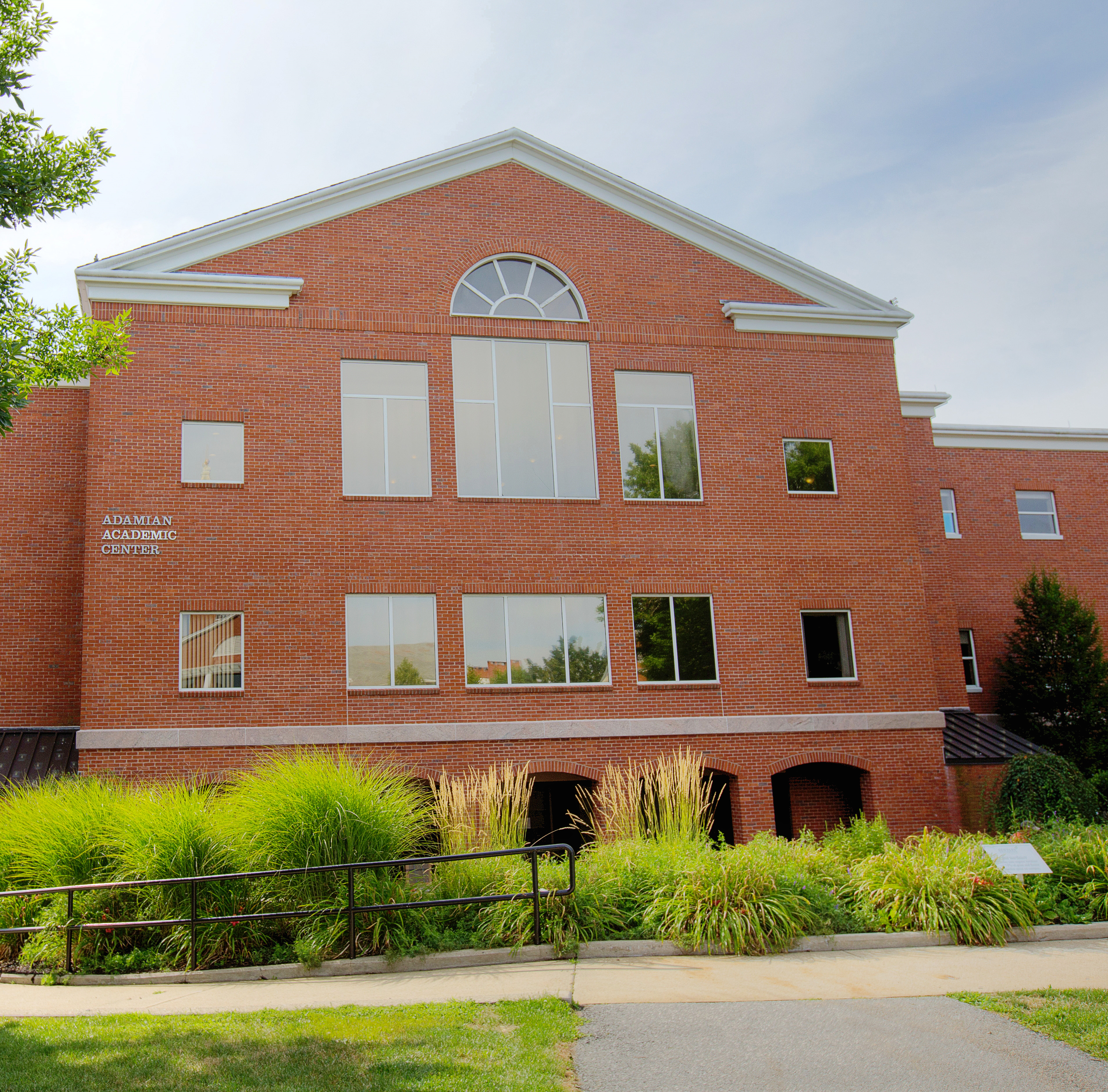 The front of the Adamian Academic Center