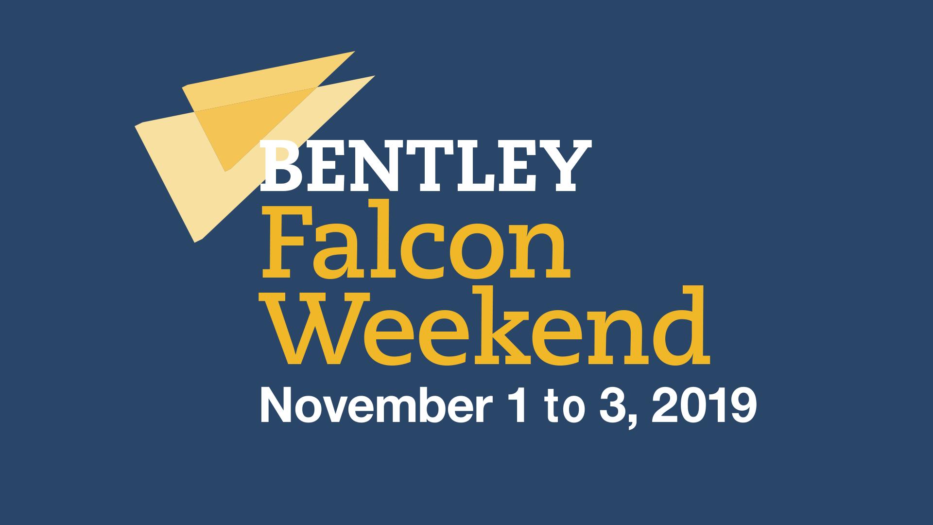 Falcon Weekend logo: November 1 to 3, 2019