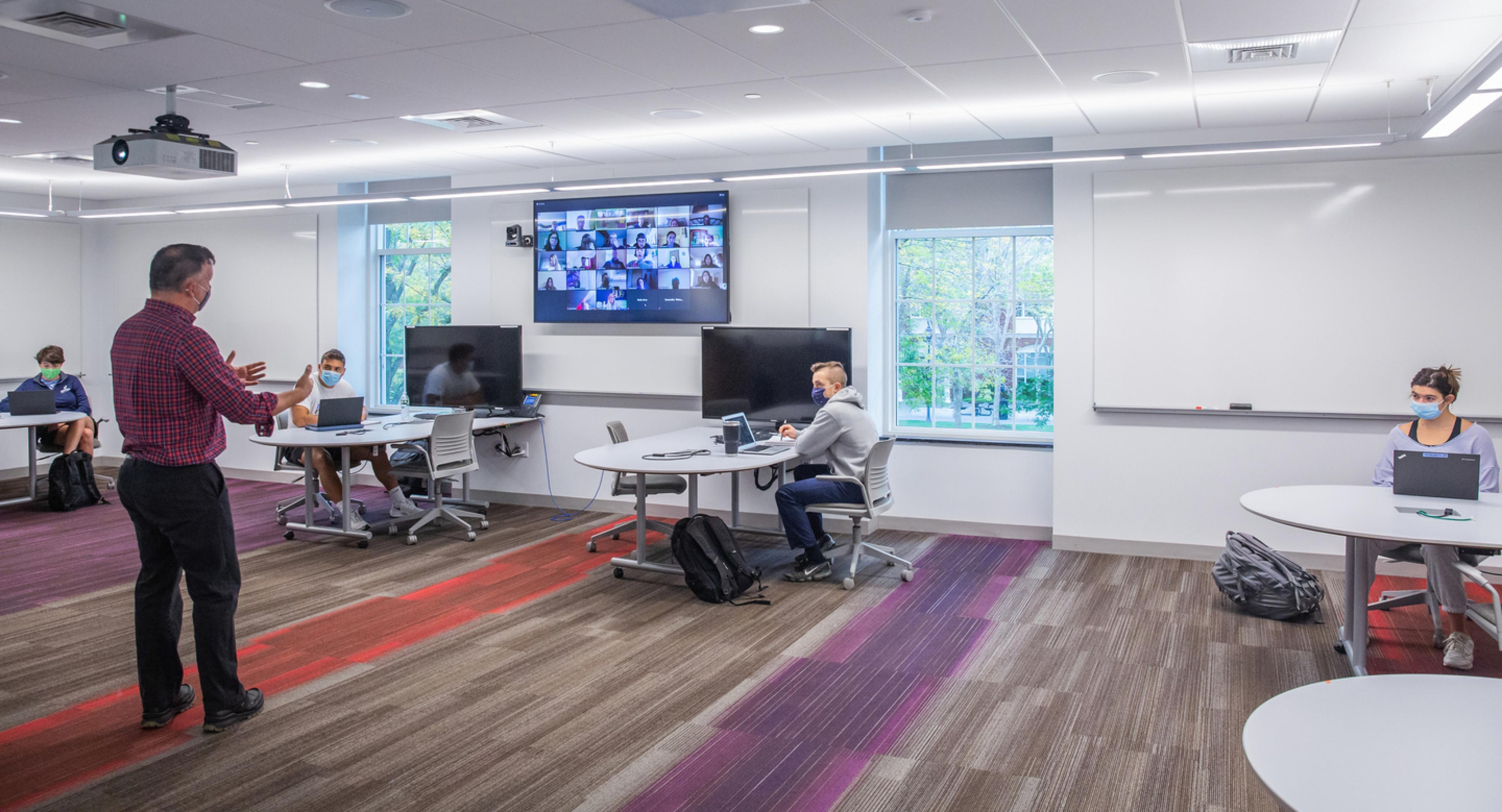 Hybrid classroom with new technology