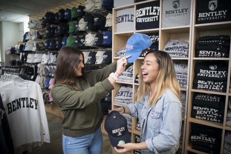 two students try on bentley fgear