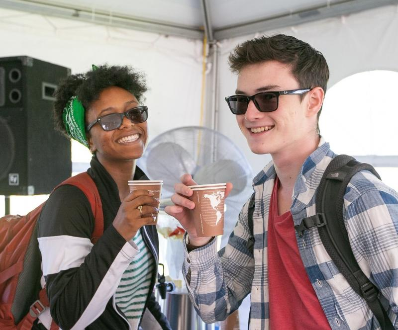 Bentley University students during inauguration week