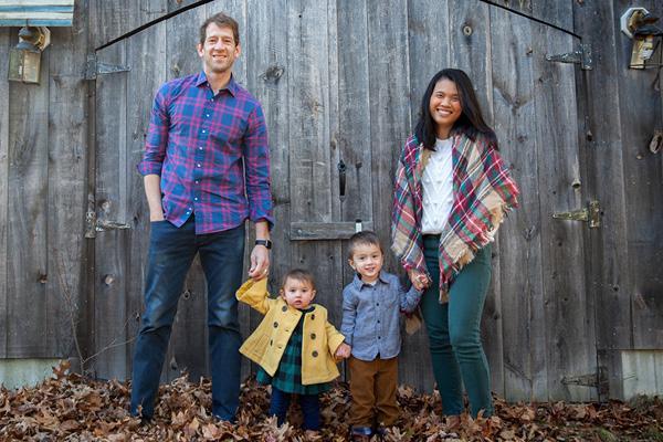 Chris and Ra Tardiff and family