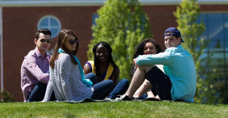 students on greenspace
